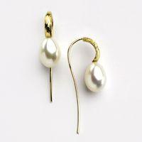 14k gold pearls earrings