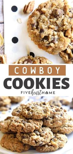 These Cowboy Cookies are soft, chewy, and totally addictive! Loaded with a variety of flavors and textures, these cookies are the perfect recipe for parties! This easy recipe for a crowd will surely please everyone! Save this pin for later!