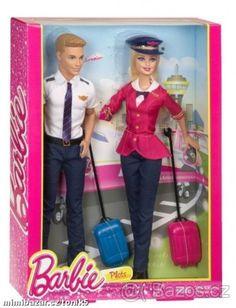 NOVÉ ZBOŽÍ Barbie a Ken - letuška s pilotem - od Mattel - 1