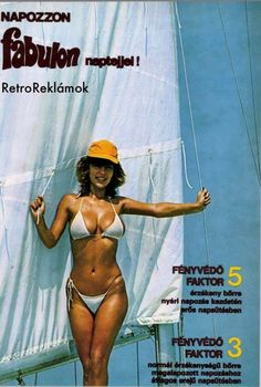 Retro Ads, Vintage Advertisements, Vintage Ads, Vintage Posters, Vintage Style, Sexy Bikini, Bikini Girls, Illustrations And Posters, Hungary