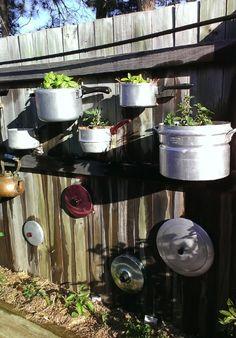 natural modern interiors: Recycled Herb Garden Wall