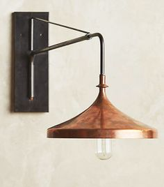 Anthropologie Copper Wall Sconce