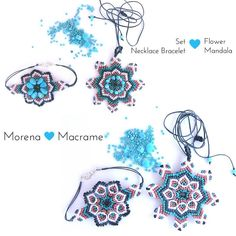 "Morenamacrame ✨☀️🌗 on Instagram: ""Questi mandala mi hanno ipnotizzata, è nato anche il primo bracciale da abbinare alla collana, tanti fiori colorati da sfoggiare subito !!…"" Spring Is Coming, Flower Necklace, Macrame, Mandala, Gift Ideas, Bracelets, Flowers, Etsy, Brunette Girl"