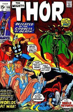 Thor #186 comic cover (art by John Buscema)