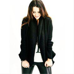 style | cozy black sweater