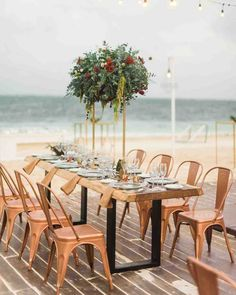 29 Tall Centerpieces That Will Take Your Reception Tables to New Heights – Wedding Centerpieces Tall Wedding Centerpieces, Beach Wedding Decorations, Tall Centerpiece, Centrepieces, Floral Centerpieces, Table Decorations, Bohemian Beach Wedding, Bohemian Weddings, Outdoor Weddings