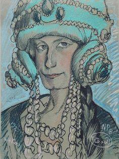 obraz Portret Marii Nawrockiej - Stanisław Ignacy Witkiewicz, Witkacy