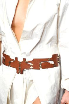 Detail Photo 9 from Donna Karan Leather Corset Belt, Wide Leather Belt, Leather Belts, Fashion Belts, Fashion Outfits, Fashion Clothes, Luxury Belts, Stylish Outfits, Dressy Outfits
