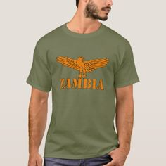 Shop Zambia T-Shirt created by GrooveMaster. Zambia Flag, Tshirt Colors, Flags, Kids Outfits, Fitness Models, Reusable Tote Bags, Unisex, Casual, Sleeves