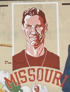 """Don Faurot (1902-1995) was born in Mountain Grove, MO. As a student at the University of Missouri, he was a three-sport letterman. Later he was the head football coach at Mizzou from 1935-1956 and was known for creating a new version of the T-formation, called the """"split-T."""" -Old Town Cape"""