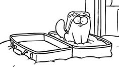 Simon's Cat - Suitcase - My cats always try to help me pack when I go out of town.