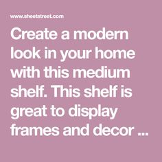 Create a modern look in your home with this medium shelf. This shelf is great to display frames and decor items or it can be used for easy storage. Co-ordi Media Shelf, Shelf Furniture, Living Room Storage, Easy Storage, Decorative Items, Frames, Shelves, Display, Medium