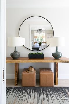 This week's favorite spaces include beautiful ideas & inspiration for the living room, bedroom, kitchen, entryway & more, plus great weekend sales! Live Edge Console Table, Entryway Console Table, Modern Console Tables, Hall Tables, Entry Bench, Sideboard, Modern Entryway, Entryway Decor, Entrance Foyer