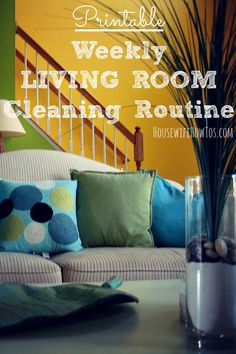Whether you call it the living room, family room, or even the parlor, this printable checklist guides you through a thorough weekly cleaning to make it shine.