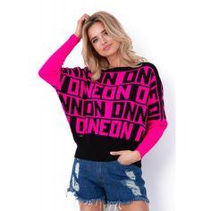 Pulover sport in doua tonuri cu inscriptii ON NEON-1 1, Neon, Style, Fashion, Elegant, Tricot, Swag, Moda, Fashion Styles
