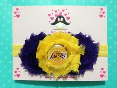 Los Angeles Lakers headband by AnisasBowtique on Etsy, $11.00