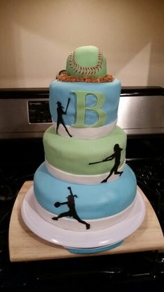 3 tier softball cake