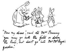 The first appearance of Peter Rabbit was in a letter by Beatrix Potter