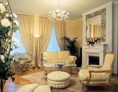 Wohnzimmer Gardinen Für Eine Schön Ergänzte Inneneinrichtung #deko #ideen  #braun #schwenkstange #