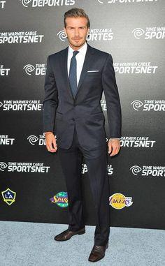 David Beckham - All suited up!