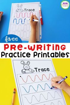 Learning to write doesn't happen overnight, and it doesn't start with the ABC's. Before kids can form letters, they need to practice using writing tools and making basic writing strokes. These free pre-writing printables give kids practice with common strokes that are found in letters, and can be used in many different ways! #prek #preschool #kindergarten Kindergarten Writing Activities, Teaching Writing, Motor Activities, Sensory Activities, Writing Skills, Preschool Lesson Plans, Preschool Letters, Kindergarten Classroom, Pre Writing Practice