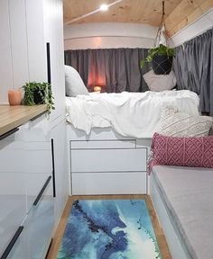 camper remodel ideas that will inspire you 2020 3 ~ IRMA Bus Living, Tiny Living, Camper Life, Bus Life, Camper Van, Vw Lt, Van Dwelling, Homestead House, Caravan Renovation