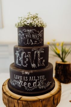 All You Need Is Love: A Beatles Themed Wedding with Rock n Roll Flare, Wedding Ideas , , Amazing Wedding Cakes, Fall Wedding Cakes, Wedding Toasts, Wedding Cake Designs, Wedding Cake Toppers, Rocker Wedding, Wedding Music, Gold Wedding, Wedding Bells