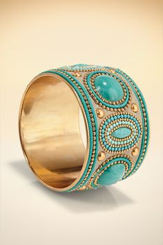 Faux Turquoise Cuff #BostonProper #Jewelry #Accessories