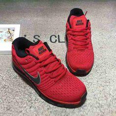 Nike Air Max 2017 Black Red Mesh Men Shoes