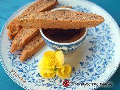 Biscotti με φουντούκια #sintagespareas Biscotti, Greek Sweets, Scones, Sweet Recipes, French Toast, Recipies, Deserts, Cookies, Breakfast