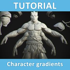 Tutorial - Character gradients, Sam King on ArtStation at https://www.artstation.com/artwork/lQ9YO