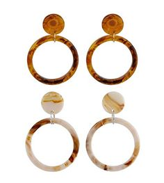 Thick: 2mm Diameter: 50mm, GOLD Classic Fashion Top Click Closure Stainless Steel Hoop Earrings
