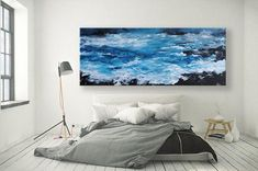 Looking for a piece of art for your coastal home? This large seascape painting is available on Etsy by clicking here!