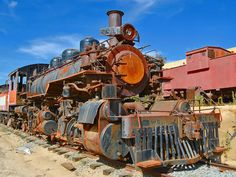 steam train in Campo, California, poor boy needs the rust taken off!
