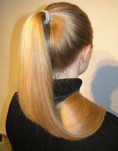 Long Ponytail Hairstyles, Long Hair Ponytail, Slick Hairstyles, Sleek Ponytail, Beautiful Long Hair, Gorgeous Hair, Glossy Hair, Long Dark Hair, Pony Tails