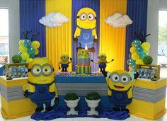Minions Birthday Theme, Minion Party Theme, Minion Birthday Invitations, Despicable Me Party, Birthday Themes For Boys, Cat Party, 2nd Birthday Parties, Birthday Cakes, Minion Party Decorations