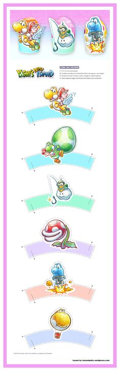 Yoshi's a pretty big fan of all things egg-related, so why not add some Yoshi flair to your Easter eggs? You can even take a little egg hunt by visiting the official site for the Yoshi's New Island game! Egg Holder, Egg Hunt, Super Mario Bros, Yoshi, Easter Eggs, Creations, Activities, Accessories, Drawings