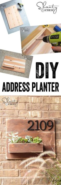 8.  DIY Address Planter!