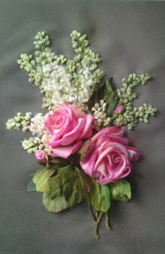 Wonderful Ribbon Embroidery Flowers by Hand Ideas. Enchanting Ribbon Embroidery Flowers by Hand Ideas. Embroidery Designs, Ribbon Embroidery Tutorial, Embroidery Boutique, Creative Embroidery, Learn Embroidery, Silk Ribbon Embroidery, Crewel Embroidery, Ribbon Art, Diy Ribbon