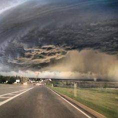 Lawton Oklahoma under a tornado watch 4-17-2013
