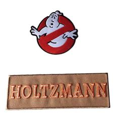 81dbe543ada2 Ghostbusters Movie No Ghost With Holtzmann Tan Name Tag Costume 2 Patch Set