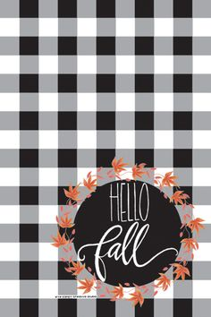 Hello fall cell phone background1