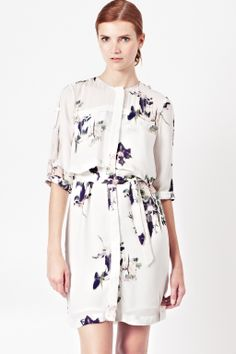 Water Flower Draped Dress - Dresses - French Connection Usa