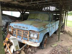 1959 Ford with Original Miles Barn Find Dodge Trucks, Pickup Trucks, Ford 4x4, Barn Finds, Old School, Antique Cars, The Originals, Vehicles, Vintage Cars