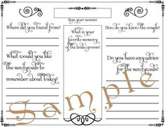 diy wedding guestbook templates | DIY Wedding Project: Guestbook-Scrapbook – Wedding Planning
