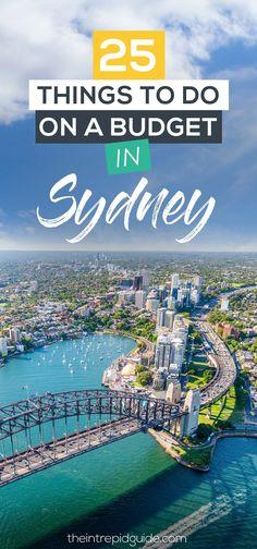 25 Things to do in Sydney on a Budget #AustraliaTravelHoneymoons