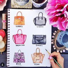 Handbag Illustration by RongrongIllustration  More fashion illustration on…