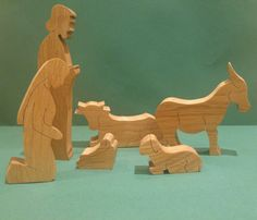Solid oak nativity scene. Beautiful christmas decoration. Nativity set. Wooden nativity set. Christmas gift