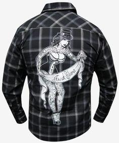 Freak Show by Whitney Lenox Men's Tattoo Long Sleeve Plaid Button Down Shirt - Purple Leopard Boutique Cool Shirts For Men, Plaid, Alternative Fashion, Button Up Shirts, Man Shop, Mens Fashion, My Style, Long Sleeve, Mens Tops