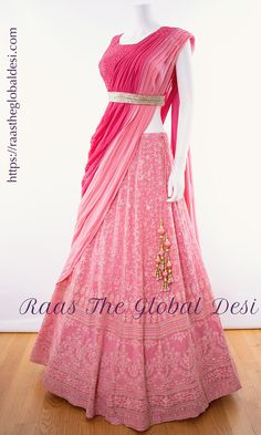LEHENGA ONLINE USA Give yourself a versatile look by wearing this georgette lehenga choli featuring lucknowi work lehenga and hand work blouse Party Wear Indian Dresses, Indian Fashion Dresses, Designer Party Wear Dresses, Indian Gowns Dresses, Indian Bridal Outfits, Party Wear Lehenga, Dress Indian Style, Indian Wear, Bridal Lehenga